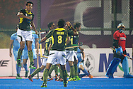 20 IND vs PAK : team Pakistan celebrates a goal