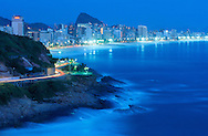 view from Hotel Sheraton to Ipanema.Rio de Janeiro.Brazil