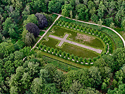Nederland, Gelderland, Gemeente Ede, 21–06-2020;  Nationaal Park De Hoge Veluwe, Museum Kroller-Muller (Kröller-Müller Museum). <br /> Park in de vorm van een Latijns kruis. In het park de President Steijnbank, karakteristiek onderdeel van het landgoed De Hoge Veluwe naar ontwerp van Henry van de Velde (1923).<br /> National Park De Hoge Veluwe, Museum Kroller-Muller (Kröller-Müller Museum). President Steijnbank, a characteristic part of the De Hoge Veluwe estate after a design by Henry van de Velde (1923), designed the park as a Latin cross.<br />  <br /> luchtfoto (toeslag op standaard tarieven);<br /> aerial photo (additional fee required)<br /> copyright © 2020 foto/photo Siebe Swart