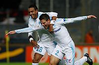 FOOTBALL - FRENCH LEAGUE CUP 2010/2011 - 1/4 FINAL - OLYMPIQUE MARSEILLE v AS MONACO - 10/11/2010 - PHOTO PHILIPPE LAURENSON / DPPI - JOY AFTER GOAL CESAR AZPILICUETA (OM)