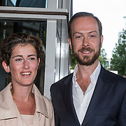 NLD/Amsterdam/20140612 - Hilton Haringparty 2014, Jan Taminiau en zus Maartje