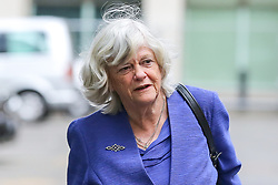 May 27, 2019 - London, UK, United Kingdom - Ann Widdecombe elected as a Member of the European Parliament ( MEP) for South West England is seen arriving at the EU election results press conference in Westminster..The newly formed Brexit Party wants the UK to leave the EU without an agreement won 10 of the UK's 11 regions, gaining 28 seats, more than 32% of the vote across the country and are largest party in nine regions. (Credit Image: © Dinendra Haria/SOPA Images via ZUMA Wire)