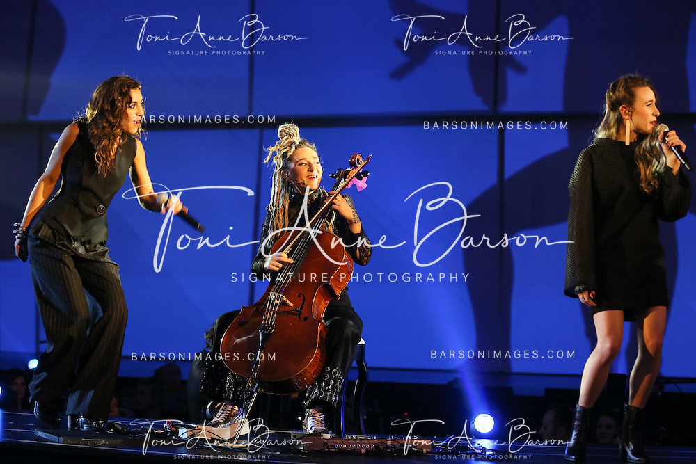 "PARIS, FRANCE - FEBRUARY 10:  L.E.J performs during the ""32nd Victoires de la Musique 2017"" at Le Zenith on February 10, 2017 in Paris, France.  (Photo by Tony Barson/FilmMagic)"