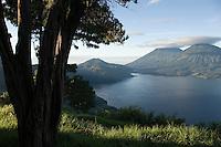 Early morning view of Lago de Atitlán, Guatemala.