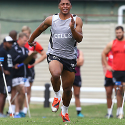 DURBAN, SOUTH AFRICA Monday 29th June 2015 -  Garth April during the Cell C Sharks Conditioning training session at Growthpoint Kings Par in Durban, South Africa. (Photo by Steve Haag)