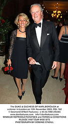 The DUKE & DUCHESS OF MARLBOROUGH at a dinner in London on 12th November 2003.POL 162