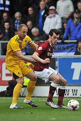 BRISTOL ROVERS TOM LOCKYER HOLDS OF NORTHAMPTONS JOHN MARQUIS, JOHN MARQUIS NORTHAMPTON TOWN, Northampton Town v Bristol Rovers, Sky Bet League Two, Sixfields Stadium, Saturday 9th April 2016, (Score 2-2) Northampton Promoted to League One,