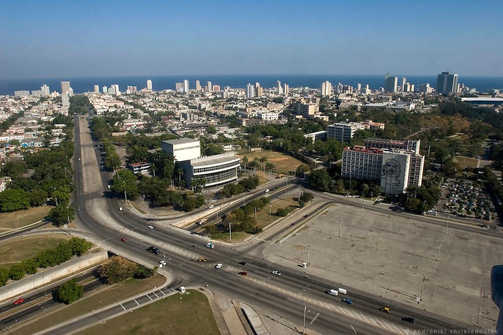 View of Havana from the Jose Marti monument in front of Plaza de la Revolution in Havana - CUBA