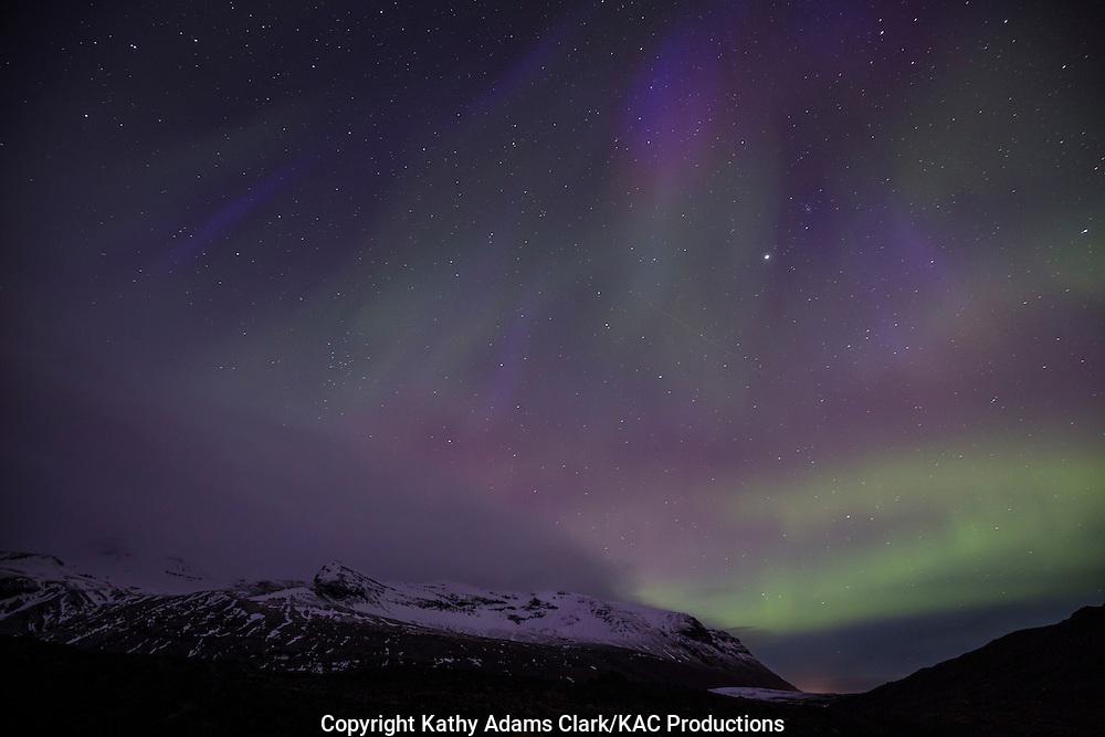 Aurora Borealis, northern lights, Skaftafell, Iceland, March 27, 2015, Kp 9,