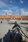 Horse ride in the Plaza de Espa&ntilde;a. Seville, Andalucia, Spain.<br /> Photo: Zute Lightfoot