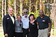Oscar winning actor Morgan Freeman rolls out theh red carpet for his friends campaign to be the next Democratic Governor of Mississippi. Luckett and Freeman pose during a fundraiser for Luckett for Governor duringa fund raiser in Madison MS. Sunday Oct. 17,2010. Pictured left to right  Bill Luckett,democartic candidate for Governor of Mississipppi, his wife Francine Luckett, actor Morgan Freeman Heather Miles, Dr, Miles. The fundraiser for Luckett was atthe home of Dr. and Mrs Miles in madison mS.Photo©Suzi Altman