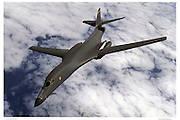 B-1 bomber, air-to-air