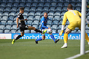 Matty Done shoots during the EFL Sky Bet League 1 match between Rochdale and Bury at Spotland, Rochdale, England on 26 August 2017. Photo by Daniel Youngs.