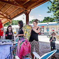 Nederland, Bakkum, 29 juli 2016.<br />Drukte op de grootste camping van Nederland, camping Bakkum.<br /><br /><br /><br />Foto: Jean-Pierre Jans