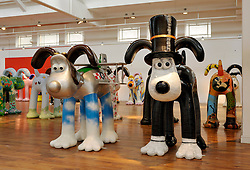 © Licensed to London News Pictures. 18/09/2013. Bristol, UK. Gromit Unleashed final exhibition to the public before the dogs are auctioned off next month to raise money for the Bristol Children's Hospital.  The exhibition shows all 80 Gromits and is in the former Habitat building next to the Royal West of England Academy on Queens Road. 18 September 2013.<br /> Photo credit : Simon Chapman/LNP