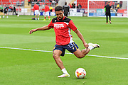 Bristol City defender Scott Golbourne (13) warming up before the EFL Sky Bet Championship match between Rotherham United and Bristol City at the New York Stadium, Rotherham, England on 10 September 2016. Photo by Ian Lyall.