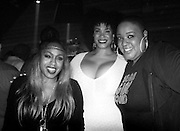 "Ultra Nate, Monique Bingham and Lisa Moody pose at the ""Louie Vega Starring...XXVIII"" album release during Roots at Cielo in New York City, New York on February 24, 2016."