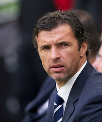 DUBLIN, REPUBLIC OF IRELAND - Friday, May 27, 2011: Wales' manager Gary Speed MBE during the Carling Nations Cup match against Northern Ireland at the Aviva Stadium (Lansdowne Road). (Photo by David Rawcliffe/Propaganda)
