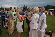 MOLLIE KING; KATHERINE JENKINS; , The Veuve Clicquot Gold Cup Final.<br /> Cowdray Park Polo Club, Midhurst, , West Sussex. 15 July 2012.