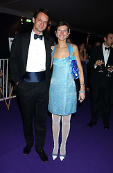 Chairman of the ball JAMES JOHNSTONE and his wife CAROLINE  at The British Red Cross London Ball - H2O The Element of Life, held at The Room by The River, 99 Upper Ground, London SE1 on 17th November 2005.<br /><br />NON EXCLUSIVE - WORLD RIGHTS