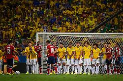 Lance da partida entre Brasil x Colombia, válida pelas quartas de final da Copa do Mundo 2014, no Estádio Castelão, em Fortaleza-CE. FOTO: Jefferson Bernardes/ Agência Preview