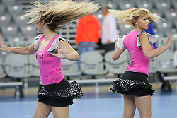 FlyGirlz Cheerleaders during 21st Men's World Handball Championship 2009 Main round Group I match between National teams of Hungary and South Korea, on January 27, 2009, in Arena Zagreb, Zagreb, Croatia.  (Photo by Vid Ponikvar / Sportida)