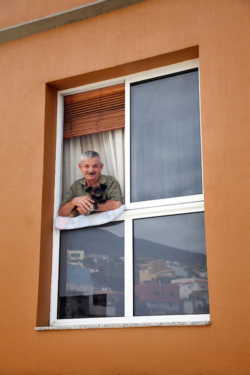 Man and his dog. North Tenerife.