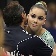 McKayla Maroney, Long Beach, California, during the Senior Women Competition at The 2013 P&G Gymnastics Championships, USA Gymnastics' National Championships at the XL, Centre, Hartford, Connecticut, USA. 15th August 2013. Photo Tim Clayton