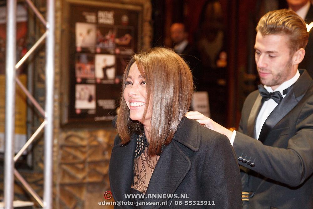 NLD/Amsterdam/20160216 - Filmpremiere Familieweekend, Fajah Lourens en partner Gijs Scheeringa
