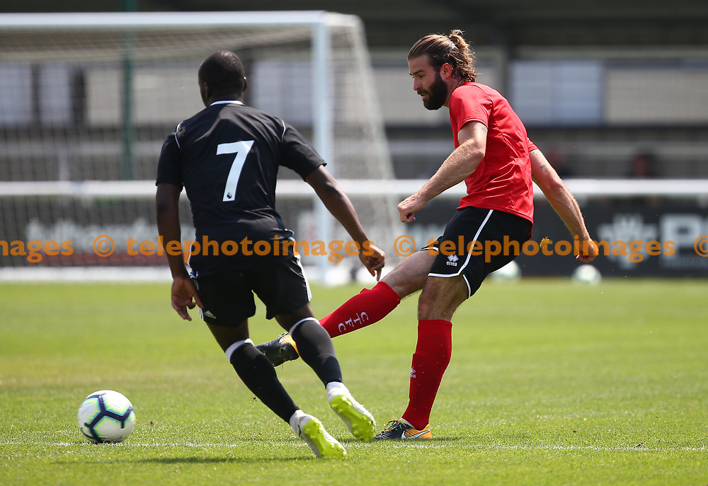 Crawley's Joe McNerney during the pre season friendly between Fulham and Crawley Town at Motspur Park Training Ground, London, UK. 07 July 2018.