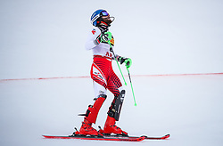 17.02.2019, Aare, SWE, FIS Weltmeisterschaften Ski Alpin, Slalom, Herren, 2. Lauf, im Bild Marco Schwarz (AUT) // Marco Schwarz of Austria reacts after his 2nd run of men's Slalom of FIS Ski World Championships 2019. Aare, Sweden on 2019/02/17. EXPA Pictures © 2019, PhotoCredit: EXPA/ Johann Groder