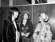 Eric Clapton, Patti Boyd and Judy Geeson arrive in Dublin to take part in 'Circasia 75'.<br />