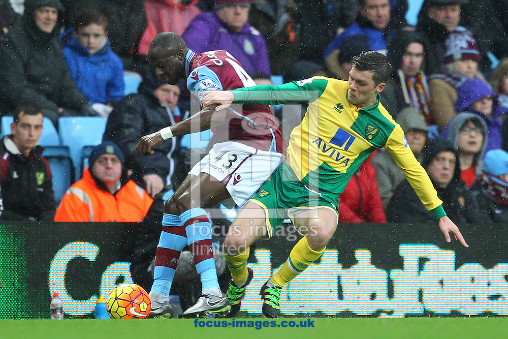 Jonny Howson of Norwich and Aly Cissokho of Aston Villa in action during the Barclays Premier League match at Villa Park, Birmingham<br /> Picture by Paul Chesterton/Focus Images Ltd +44 7904 640267<br /> 06/02/2016