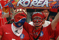 17.06.2010, Seoul, KOR, FIFA WM 2010, South Korea soccer fans in Seoul, im Bild South Korea soccer fans cheer South Korea team before FIFA 2010 World Cup group B match between South Korea and Argentina in Seoul. About three hundred thousand South Korean fans gathered in the city square for the match but Argentina beat South Korea by 4:1. EXPA Pictures © 2010, PhotoCredit: EXPA/ IPS/ Penta / SPORTIDA PHOTO AGENCY