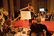 ALEXANDRA DELLAL; TRACEY EMIN HELPING SELL THE PICTURE SHE DONATED. Chaos Point: Vivienne Westwood Gold Label Collection performance art catwalk show and auction in aid of the NSPCC. Banqueting House. London. 18 November 2008<br /> *** Local Caption *** -DO NOT ARCHIVE -Copyright Photograph by Dafydd Jones. 248 Clapham Rd. London SW9 0PZ. Tel 0207 820 0771. www.dafjones.com