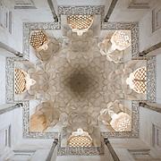 Interior of  Octagonal Pavilion Tomb of the Sheikh Abdolsamad, Natanz, Iran.