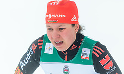 20.02.2016, Salpausselkae Stadion, Lahti, FIN, FIS Weltcup Langlauf, Lahti, Damen, im Bild Lucia Anger (GER) // Lucia Anger of Germany reacts during Ladies FIS Cross Country World Cup, Lahti Ski Games at the Salpausselkae Stadium in Lahti, Finland on 2016/02/20. EXPA Pictures © 2016, PhotoCredit: EXPA/ JFK