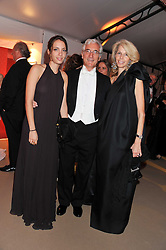Left to right, TAMARA COHEN and her parents SIR RONALD & LADY COHEN at the Raisa Gorbachev Foundation Gala held at the Stud House, Hampton Court, Surrey on 22nd September 22 2011