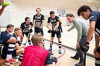DELFT - coach HDM Patrick Jacobs . tijdens de zaalhockey hoofdklasse competitiewedstrijd HDM-KAMPONG (7-8). COPYRIGHT KOEN SUYK