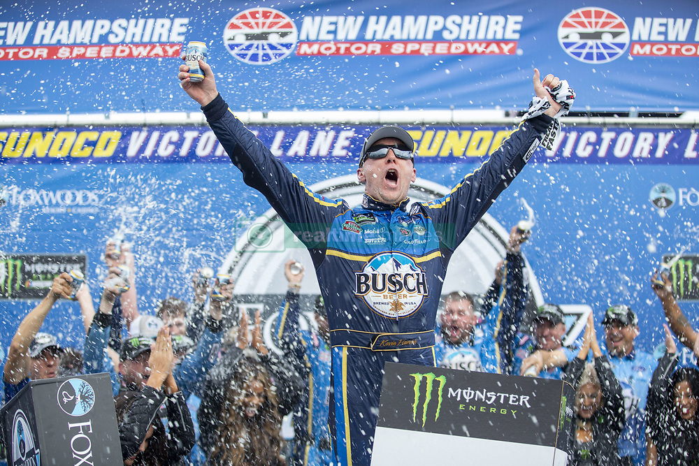 July 22, 2018 - Loudon, New Hampshire, United States of America - Kevin Harvick (4) wins the Foxwoods Resort Casino 301 at New Hampshire Motor Speedway in Loudon, New Hampshire. (Credit Image: © Stephen A. Arce/ASP via ZUMA Wire)