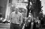 2012 May 08 - Man on 1st Avenue, Seattle. Copyright Richard Walker