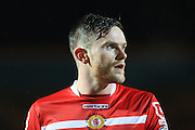 Oliver Turton during the Sky Bet League 1 match between Rochdale and Crewe Alexandra at Spotland, Rochdale, England on 16 February 2016. Photo by Daniel Youngs.