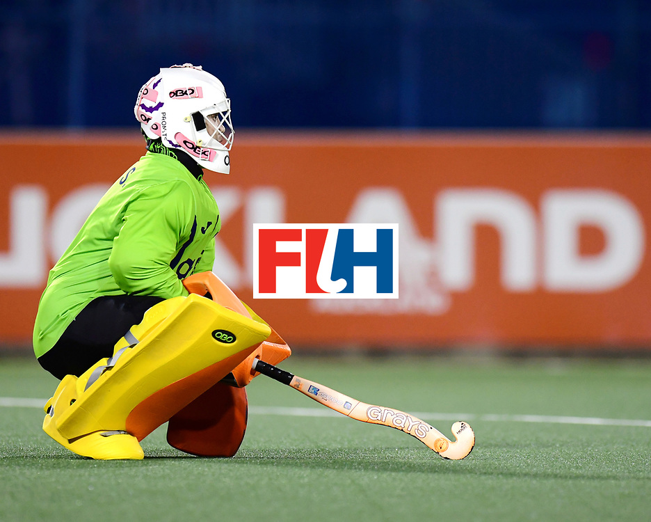 AUCKLAND - Sentinel Hockey World League final women<br /> Match id:10318<br /> 18 NED v KOR (Semi Final)<br /> Foto: Soo Ji Jang (Gk)  <br /> WORLDSPORTPICS COPYRIGHT FRANK UIJLENBROEK