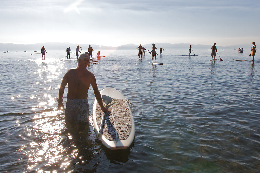 1st Annual Taho'e Naul Stand Up Paddle race in Lake Tahoe, California