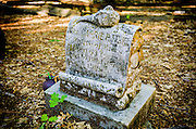 Grave in the historic Yosemite Valley Cemetery, Yosemite National Park, California USA