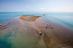 A Kimberley reef is exposed on a falling tide.
