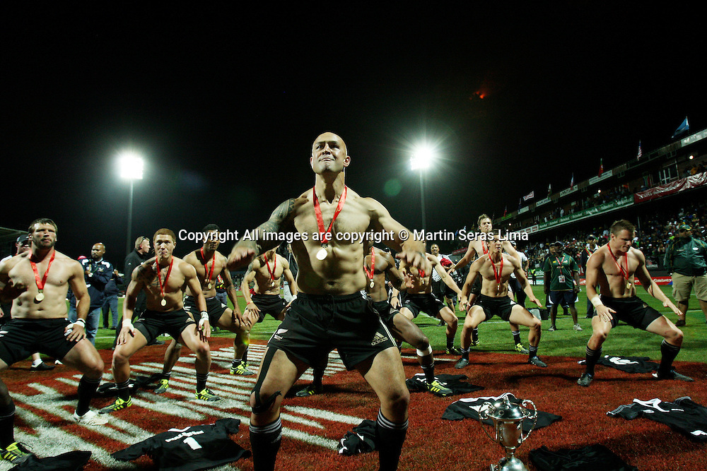 Haka with DJ Forbes 11.12.2010 HSBC Rugby Union Sevens Series from George in South Afica.