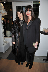 Left to right, BELLA FREUD and LAUREN GURVICH at the launch party for Club Monaco at Browns, 32 South Molton Street, London on 16th February 2011.