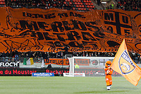 Illustration tifo Lorient / mascotte Lorient  - 20.12.2014 - Lorient / Nantes - 19eme journee de Ligue 1 -<br /> Photo : Vincent Michel / Icon Sport