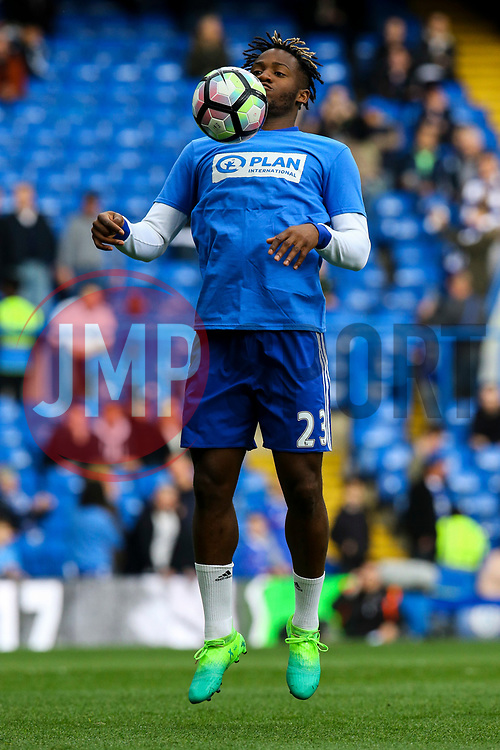 Michy Batshuayi of Chelsea chests the ball during warm ups - Mandatory by-line: Jason Brown/JMP - 01/04/2017 - FOOTBALL - Stamford Bridge - London, England - Chelsea v Crystal Palace - Premier League